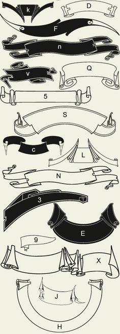 Letterhead Fonts / LHF Americana Ribbons / Decorative Ribbons