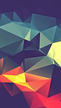 Colorful Polygonal Render #iPhone #7 #wallpaper