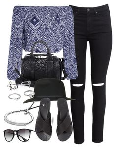 """""""Style #9073"""" by vany-alvarado ❤ liked on Polyvore featuring H&M, Alexander Wang, Topshop, Ancient Greek Sandals, Ray-Ban and Michael Kors"""