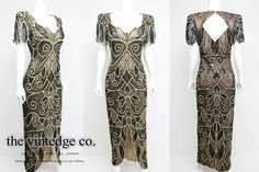 20s 30s Nude Illusion Gatsby Deco Goddess Bead by thevintedgeco, $485.00