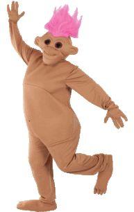 Pink Troll Doll Costume