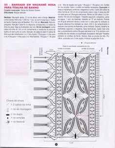 Arte em Macramê e Crochê: Graficos de barrado em macrame