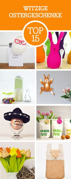 Auf der Suche nach witzigen Ostergeschenken? Entdecke unsere 15 witzigen Ideen für Ostern / looking for inspiration: best 15 funny Easter gifts via DaWanda.com