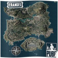 'Playerunknown's Battlegrounds Erangel Map' Poster by CataclyzmikFX International Falls, Fantasy Map, Dungeons And Dragons, Ipad Case, Iphone Wallpaper, Maps, City Photo, Stationery, Posters