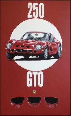Acrylic on canvas Ferrari 250 GTO