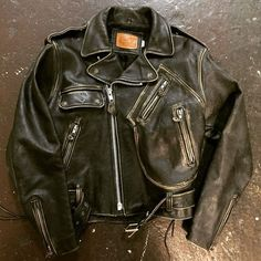Vintage iron horse ladies leather jacket size small made in usa in our SF shop