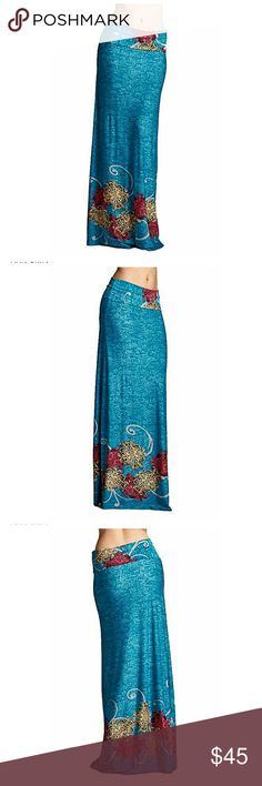 New Blue Maxi Skirt/dress New With Tags Attached  This gorgeous blue maxi skirt can also be pulled up to wear as a dress. Size 2X, fits like 1X  Stretch Polyester spandex fabric  16 inches across waist/bust lying flat,  Lots of stretch 23 inch hips across lying flat 47 inches long Purchased at Urban Outfitters brand Emerald NEW MADE IN USA Get ready for summer in this versatile stunner! Urban Outfitters Dresses Maxi