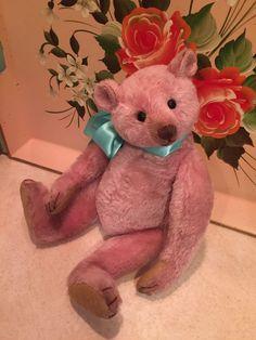 Lovely Lavender Pink Mohair Artist Teddy Bear Daniela Rebekka Melse Dany Baeren
