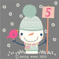 dawn @ dottywrenstudio: advent calendar...day 5