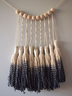Between upcycled DIY fabric projects and intricate, upscale creations, these 23 rad tassel wall hangings bring the party to any space. Diy Tassel Garland, Tassels, Garlands, Garland Ideas, Diy Pompon, Yarn Wall Hanging, Wall Hangings, Arts And Crafts, Diy Crafts