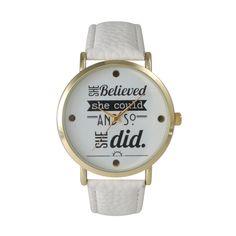 Geneva Olivia Pratt Women's Inspirational Quote Watch