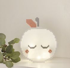 Hama Beads, Pixel Pattern, Beading Patterns, Pixel Art, Hello Kitty, Crafts For Kids, Projects To Try, Creations, Apple