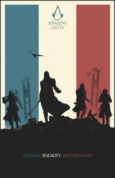 Assassin's Creed: Unity - Felix Tindall Assassins Creed Unity, Assassins Creed Series, The Assassin, Asesins Creed, All Assassin's Creed, Video Game Posters, Video Game Art, Video Games, Night Skies