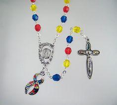 Autism Asperger Syndrome Awareness Rosary by FaithHopeAndBeads