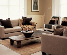 Earthy Living Room- love it!