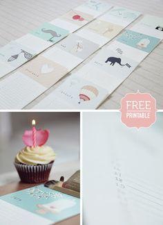 Easy and Simple: Free Printable - Birthday Calendar / Birthday Calendar