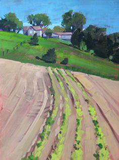 First Crops Gouache Painting by Jill Stefani Wagner   www.jillwagnerart.com