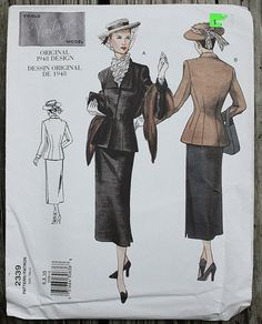 Vogue Vintage Reproduction 2339 1940s 40s by EleanorMeriwether