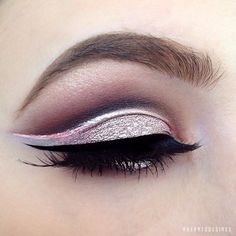 Silvery-pink cut-crease   19 Ways Pink Eyeshadow Can Actually Look Totally Badass
