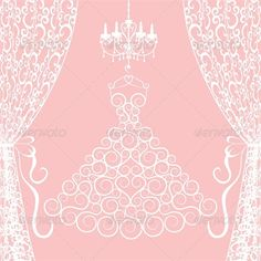 Wedding Card with Dress, Curtains and Chandelier  #GraphicRiver         Wedding card with dress, curtains and chandelier. Vector illustration, fully editable, vector objects separated and grouped. Editable EPS 8 Vector illustrations. Icluded files: .EPS, .JPEG 4900*4900 px.     Created: 10May13 GraphicsFilesIncluded: JPGImage #VectorEPS Layered: No MinimumAdobeCSVersion: CS Tags: antique #bobbinet #boutique #bow #card #chandelier #curtain #decoration #display #dress #elegance #fabric…