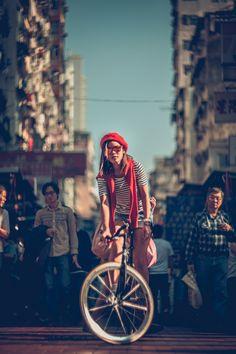 Hong Kong Fixed Gear Girl Viola @ Marie Claire China