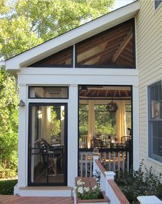 screen porch interior photos | Traditional Screened Porch.