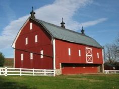 Barns and farms.