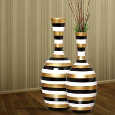 Lindo par de vasos de chão para decorar a sua casa com mais charme e estilo.