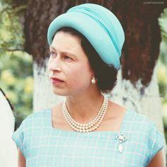 godsavelilibet:  Queen Elizabeth II on a trip to the British Virgin Islands, in 1966.