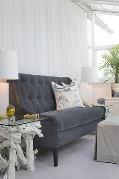 """""""Outdoor fabrics have become huge indoors,"""" says Cone. While early all-weather fabrics felt stiff and waxy, Cone says today's versions — lik..."""
