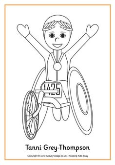 tanni grey thompson colouring page
