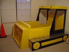 Construction vehicle themed bed