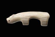 (ca. A.D. 1–700 A.D.) Zoomorphic figurine Old Bering Sea/Okvik period.