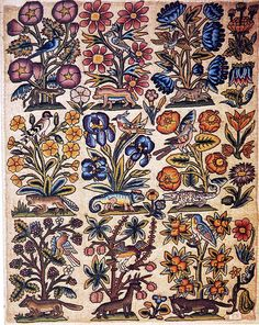Needlepoint panel 17th century by Design Decoration Craft, via Flickr