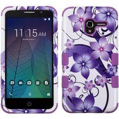 MYBAT TUFF Graphics Alcatel TRU Case - Purple Hibiscus Flower