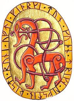 Runic dragon by Laerad