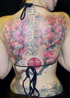 Japan Cherry Blossom Tree Tattoo   Tribal Tattoos Collections: cherry tree tattoos