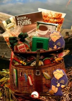 Gift basket for the fisherman in your life~