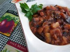 When eggplant is prepared right, it can be amazing, and this version of caponata is definitely done right. A trick to making this eggplant and tomato classic is to cook it until all the flavors marry together. Healthy Recipes On A Budget, Spicy Recipes, Healthy Breakfast Recipes, Meat Recipes, Healthy Dinner Recipes, Appetizer Recipes, Vegetarian Recipes, Cooking Recipes, Appetizers