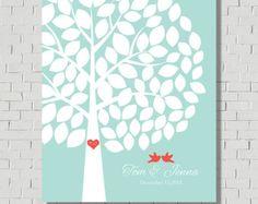 Mariage rustique Guest Book arbre de mariage par MarshmallowInkLLC
