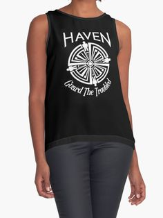 b768831a Haven Syfy Inspired | Haven Troubled Tattoo White Logo Team Rocket, Chiffon  Tops, The