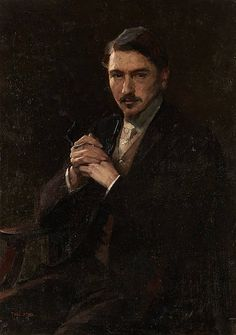 blastedheath:  Tadeusz Styka (Polish, 1889-1954), Portrait du Prince Lubomirsky. Oil on panel, 95 x 68cm.