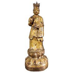 16th Century Chinese Gilt Bronze Bodhissatva.