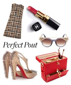 """""""〰"""" by victoriaalyra ❤ liked on Polyvore featuring beauty, Dolce&Gabbana, Christian Louboutin, Chanel and Jimmy Choo"""