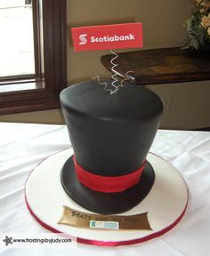 "top hats wedding cakes for grooms | This cake was made to say ""Hats off to you"" for the dessert table ..."