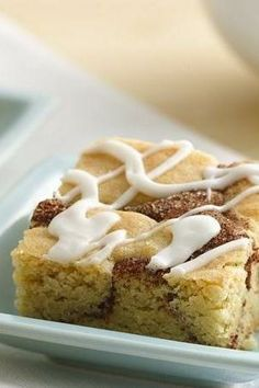 """Snickerdoodles are a classic cookie, and now you can make them in an easy bar form! To add more cinnamon flavor, sprinkle 1/3 cup cinnamon chips over the cinnamon-sugar filling in the center of the bars. """"Really love this recipe, faster than the cookies and better,"""" says Betty member SMAEC."""