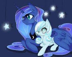 Awww Luna and snowdrop