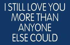 i still love you more. - snow patrol