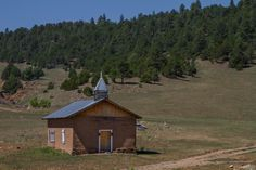 Little adobe church found in the Mora Valley of New Mexico