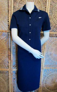 Vintage 1960s Lacoste Polo Dress-David Crystal-Navy